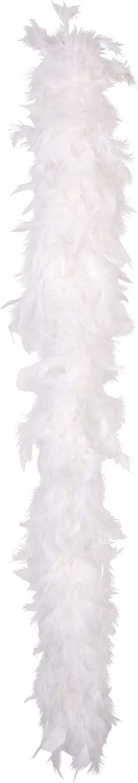 COOLMP Lot de 12 - Boa Blanc 50 g - Taille Unique - Accessoires de fête, Costume, déguiseHommest, Jeux, Jouets