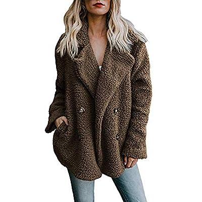 Clearance Sale! Caopixx Winter Faux Fur Coat for Women Long Sleeve Lapel Warm Outwear Cardigan Overcoat Jacket Outfit