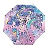Diseño automático ligero compacto portátil del paraguas del viaje del diseño de la seta y alta resistencia al viento