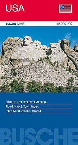 Übersichtskarte USA: Busche Map Straßenkarte, 1:5 Mio. (Busche Map Straßenkarten)