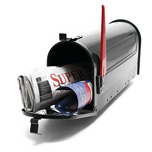 US Mailbox Amerikanisches Design Schwarz Briefkasten Standbriefkasten