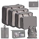 OrgaWise Packing Cubes 9 Borsa Essentials in Poliestere da viaggio Custodia in poliestere...