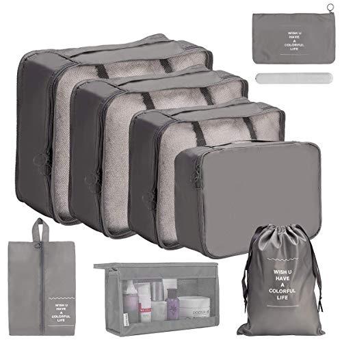 OrgaWise Organisateur de Voyage Cube de Voyage Sacs de Rangement 9 Set Système de Cube Voyage Ensemble Complet de différents Sacs Set...