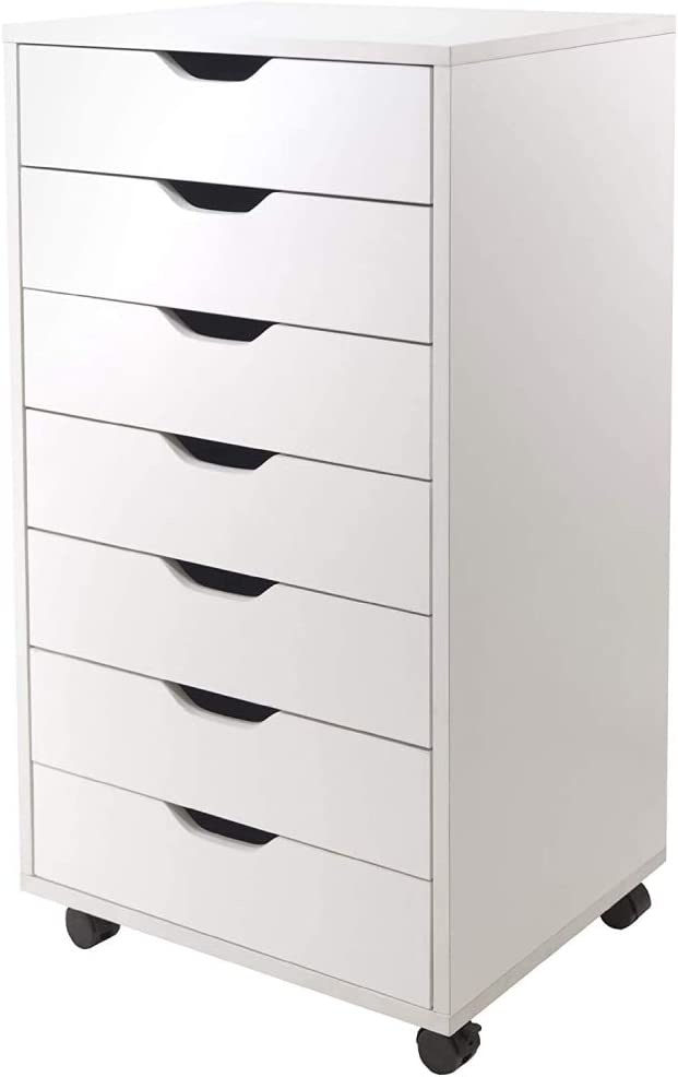 Wood 7-Drawer Filing Cabinet Closet Portland Mall Mobile Genuine Free Shipping Storage for