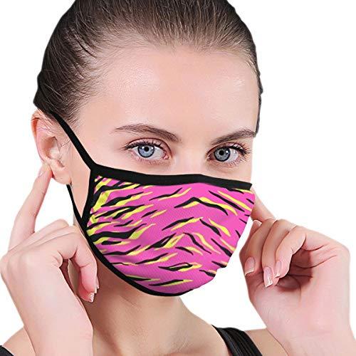 Cubierta de piel de tigre unisex, color negro, rosa y amarillo, de 6,8