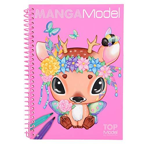 Depesche 6582 Pocket Malbuch MANGAModel, Modell Sortiert