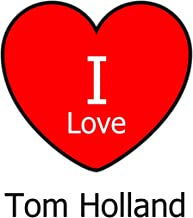 I Love Tom Holland: Large White Notebook/Journal for Writing 100 Pages, Tom Holland Gift for Girls, Boys, Women and Men