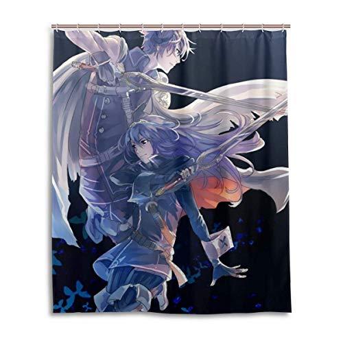 NBHJU Fire Emblem Cortina de Ducha Decoración de baño Cortinas de Ducha Impermeables con 12 Ganchos de plástico 60 X 72 Pulgadas