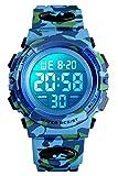 Digitaluhr für Jungen, wasserdichte Sport Uhr Kinder Uhren mit Wecker/Stoppuhr/12-24H,...