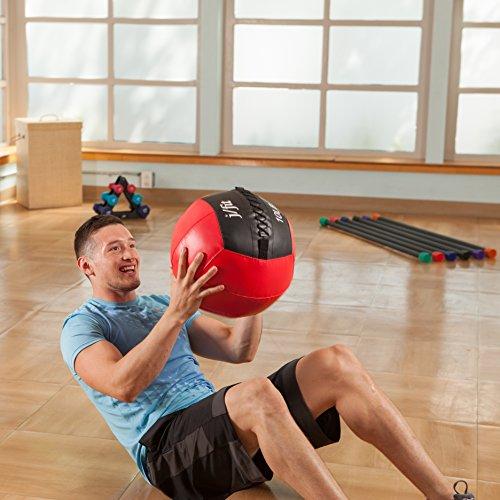 j/fit Medicine Ball, Red/Black, 20-Pound