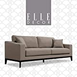 GGAA Sofa Couch Sofa Sofa Bed Elle Decor Olivia Track Arm Sofa with Solid Wood Base, Upholstered Living Room Couch, Mid-Century Modern Fabric, 86' Sofa, Charcoal Gray