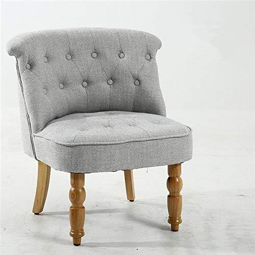 Stoel LKU Casual Accent Chair, Gestoffeerde Woonkamer Slaapkamer Side Chair Furniture Modern Middeleeuws Armless, grijze kleur