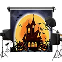 Kate 3x3m ハロウィン 背景布 かぼちゃのランプ こうもり 魔女 写真 背景 撮影用 背景 布 カスタマイズ可能背景