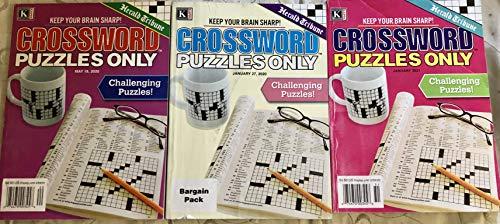 Mixed Lot of 3 Herald Tribune Crossword Puzzles Only Crosswords Books 2020 2021