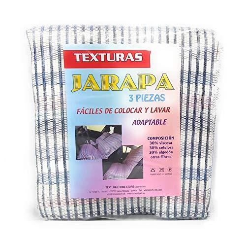 TEXTURAS HOME Set Harapas 3 Piezas Classic AUTOMÓVIL (Azul)