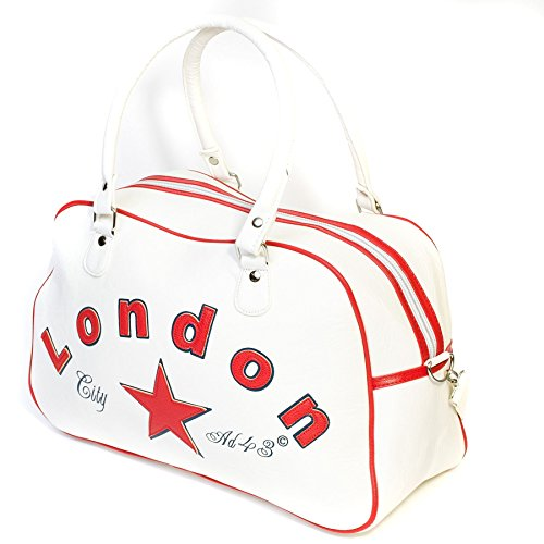 London City AD43 Bowling Bag, Weiß / Rot