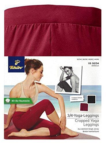 Tchibo TCM Legging de yoga 3/4 Bordeaux Taille S