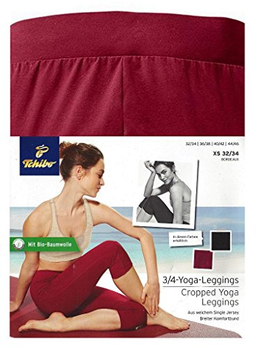 Tchibo TCM 3/4 Yoga Leggings Bordeaux (36/38 S)