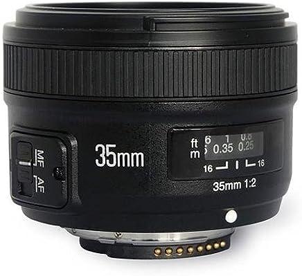 Yongnuo YN 35 mm Lente F2 1:2 AF/MF Gran Angular Fijo/Prime de Enfoque automático, Lente para cámaras réflex Digitales de Nikon