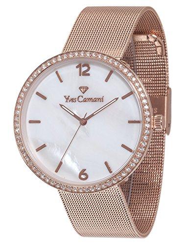 Yves Camani Damen-Armbanduhr Adorian Analog Quarz Edelstahl YC1086-B