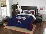 The Northwest Company Officially Licensed NFL New York Giants 'Draft' Full/Queen Comforter and 2 Sham Set, 86' x 86' , Blue