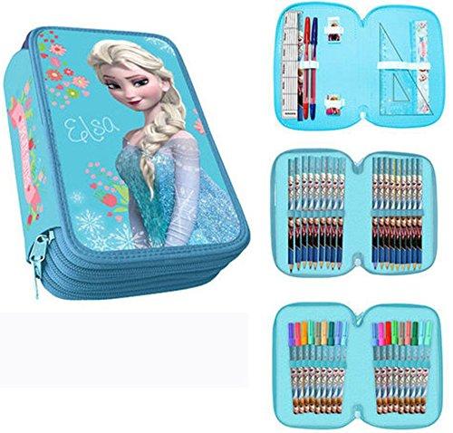 Elsa Frozen astuccio tre cerniere originale Disney