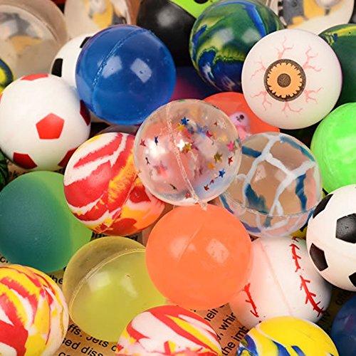 Tenlacum 20Pcs 32mm mixé Ballon élastique Jouet Ballon Anniversaire Partie Sac Cadeau Jouets