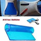Alfombrilla de gel para asiento de motocicleta, absorción de golpes, cojín suave, color azul,...