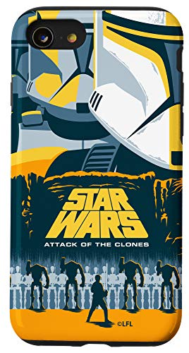 iPhone SE (2020) / 7 / 8 Star Wars Attack of the Clones Illustrated Movie Poster Case