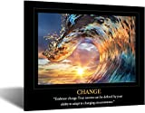 Kreative Arts Motivational Self Positive Office Quotes Inspirational Success Teamwork Posters Canvas Prints Amazing Ocean Wave Pictures Sunset on Sea Landscape Wall Art for Big Room Hall Office 20x24