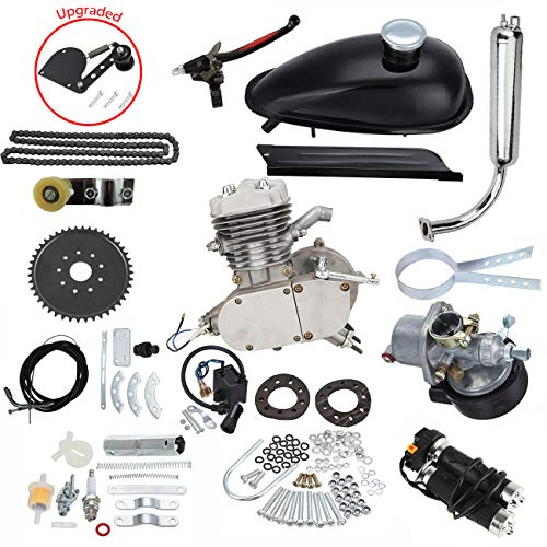 UAUS 2 Stroke Gas Engine Motor Kit 80cc Motorized Bicycle DIY (80cc 2 Stroke Engine Kit+ Chain Tension)