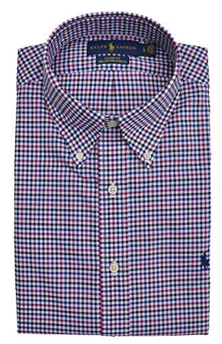 Ralph Lauren Hemd Button Down Classic Fit Blau Weiß Rot kariert Größe XL