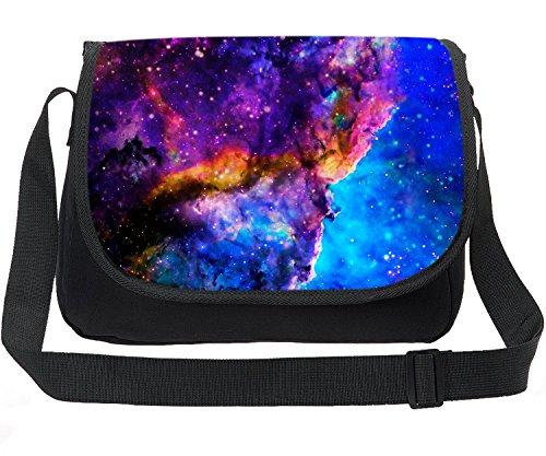 CAIWEI Retro Canvas Borsa a tracolla per laptop Borsa per notebook Borsa a tracolla Schoolbag Stampa Cosmic Space Fashion Borsa a spalla Maxi Galaxy modello