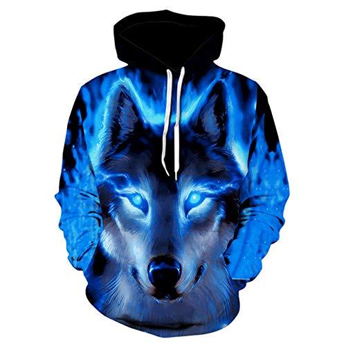HNOSD Mode Männer Wolf Tier 3D gedruckt Kapuzenpullis Männer/Frauen Shinning Wolf Design Sweatshirts 3D Hoody 8 6XL