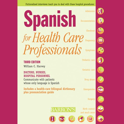 Spanish for Health Care Professionals audiobook cover art