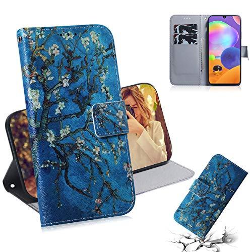 SHUYIT Handyhülle für Samsung Galaxy A31 Hülle Leder, Bunt PU Leder Tasche Klapphülle Brieftasche Ständer Kartenfach Magnetisch Flip Case Cover Schutzhülle für Samsung Galaxy A31 Handy Hüllen