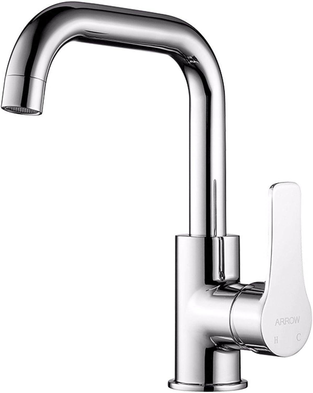 LHbox Basin Mixer Tap Bathroom Sink Faucet Basin cold water tap washbasin bench, Single Hole basin mixer