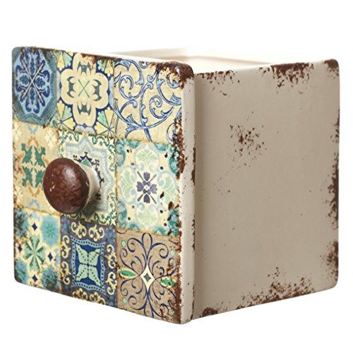 Unbekannt Heavensends FDT004B Übertopf Marokko in Form Einer Schublade - 10 x 10 x 10,5 cm