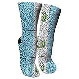 Jesse Tobias Guatemala Flag Puzzle Crazy Socks 3D Crew Socks