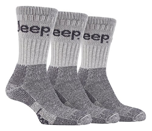 3 Paar Herren Jeep Gelände Wandersocken Beige Socken Socks