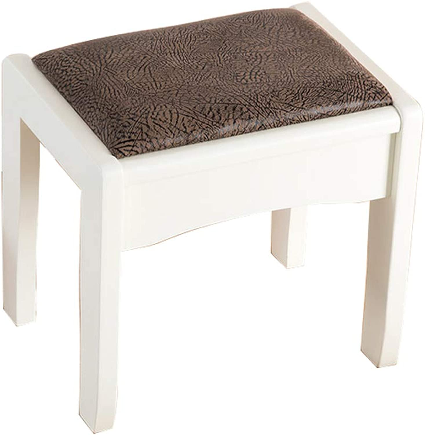 Solid Wood Dressing Stool Bedroom Makeup Stool Square Stool Small Apartment Simple Modern Stool Makeup Stool