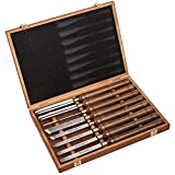 IMOTECHOM 8-Pieces HSS Wood Turning Tools Lathe Chisel Set with Walnut Handle (Wooden Storage Case)