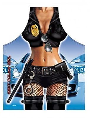 Police Girl Grillschürze Kochschürze Sexy Frau Polizistin