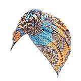 FATTERYU Sombrero de Turbante de algodón para Mujer Espiral