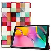 Galaxy Tab A 10.1 ケース【Trocent】Samsung Galaxy Tab A 10.1 2019 ケース Galaxy Tab A ケース スタンド機能付き 三つ折型 超薄型 高級PUレザーカバー 内蔵マグネット開閉式 (マルチ)
