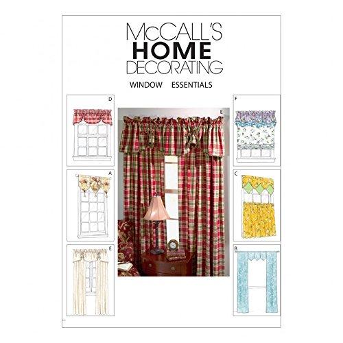McCalls Homeware Sewing Pattern 4408 Curtains, Valances & Panels