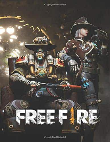 Free fire: Garena notebook with 100 lined pages size 8.5×11
