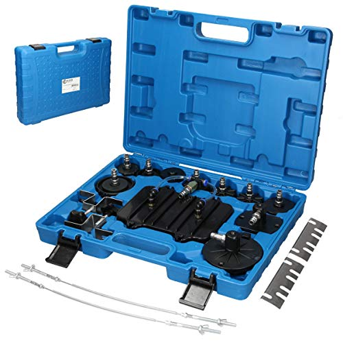 ECD Germany Anschluss Adapter Set 11 tlg. für Druckluft Bremsenentlüfter Bremsenentlüftungsgerät E20 Entlüftungsgerät Druckluft-Werkzeug
