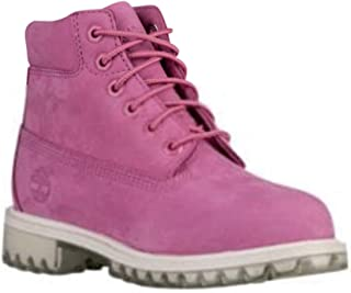 Timberland 6 Inch Waterproof Premium Junior's Boots A18SO Pink Rose