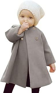 Kids Baby Girls Autumn Winter Outwear Wool Coat 🎅 2019 Popular Wind Breaker Warm Solid Button Cloak Jacket